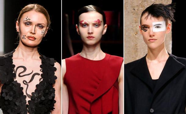 Модный макияж в стиле фейс-арт 2019
