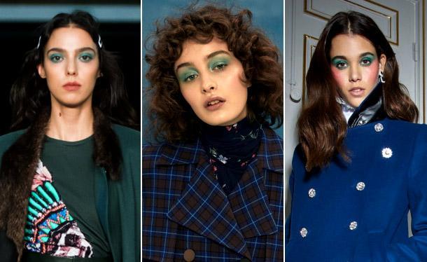 Модные зеленые тени в 2019 году