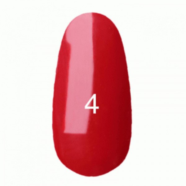 Гель лак № 4 (классический красный цвет, эмаль) 8 мл.