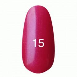Гель лак № 15 (классический малиновый с микроблеском) 8 мл.