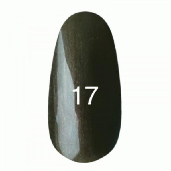 Гель лак № 17 (темно-ореховый с микроблеском) 8 мл.