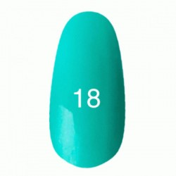Гель лак № 18 (светлая бирюза с микроблеском) 8 мл.