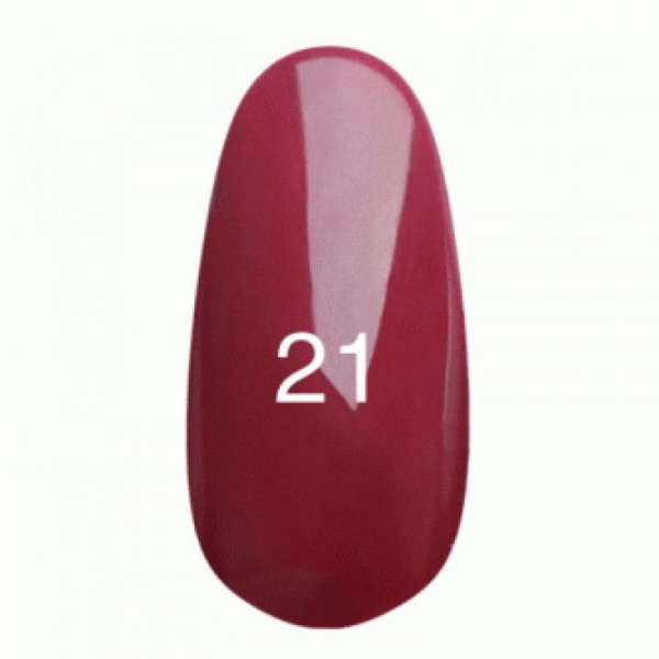 Гель лак № 21 (глубокий бордо с микроблеском ) 8 мл.