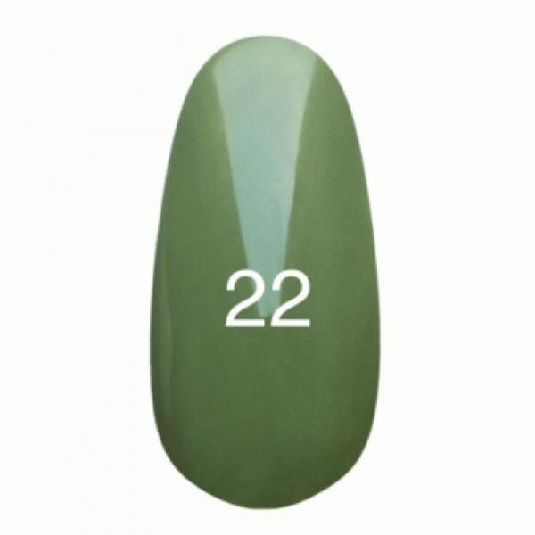 Гель лак № 22 (нежно-оливковый, эмаль) 8 мл.