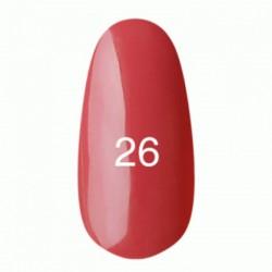 Гель лак № 26 (светло-малиновый, эмаль) 8 мл.