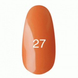 Гель лак № 27 (оранжевый, эмаль) 8 мл.