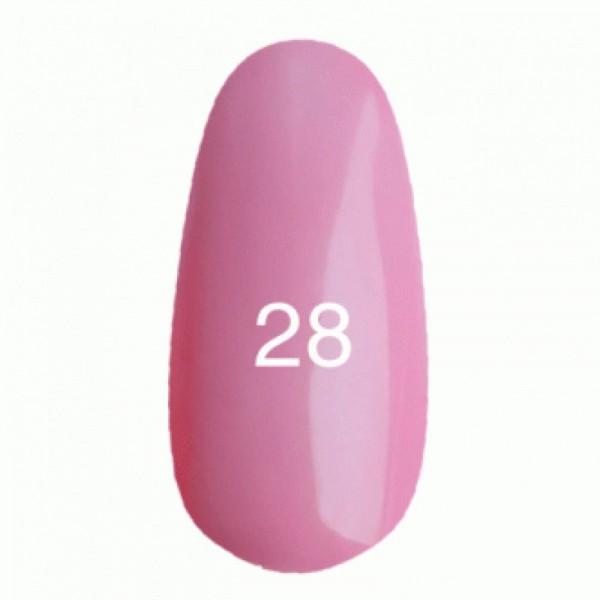 Гель лак № 28 (классический розовый, эмаль) 8 мл.