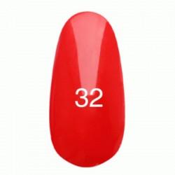 Гель лак № 32 (светло-красный, эмаль) 8 мл.