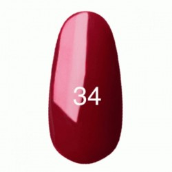 Гель лак № 34 (классический бордовый, эмаль) 8 мл.