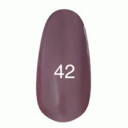 Гель лак № 42 (серо-розовый, эмаль) 8 мл.