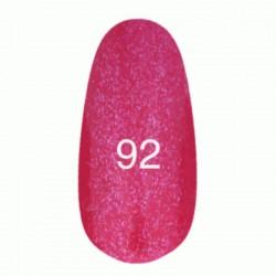 Гель лак № 92 (розовый с мерцанием) 8 мл.