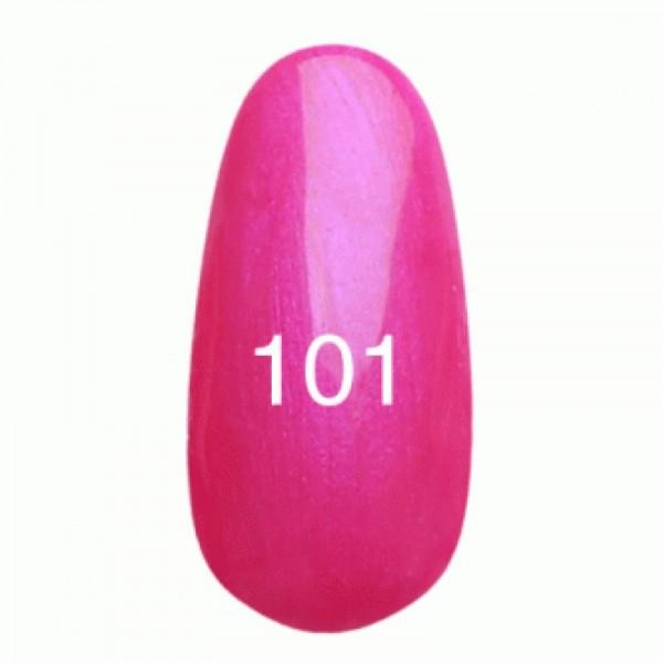 Гель лак № 101 (ярко-розовый с перламутром) 8 мл.