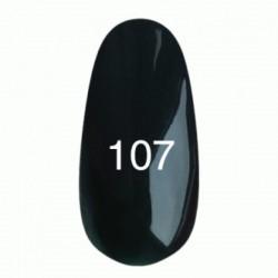 Гель лак № 107 (черно-зеленый) 8 мл.