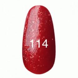 Гель лак № 114 (красный с плотным блеском) 8 мл.