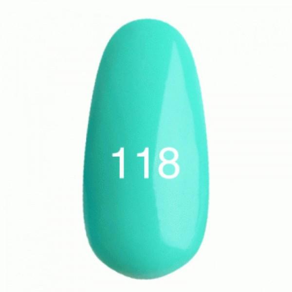 Гель лак № 118 (светлая бирюза, эмаль) 8 мл.