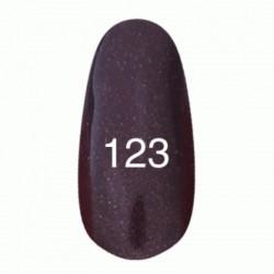 Гель лак № 123 (темный баклажан с перламутром) 8 мл.