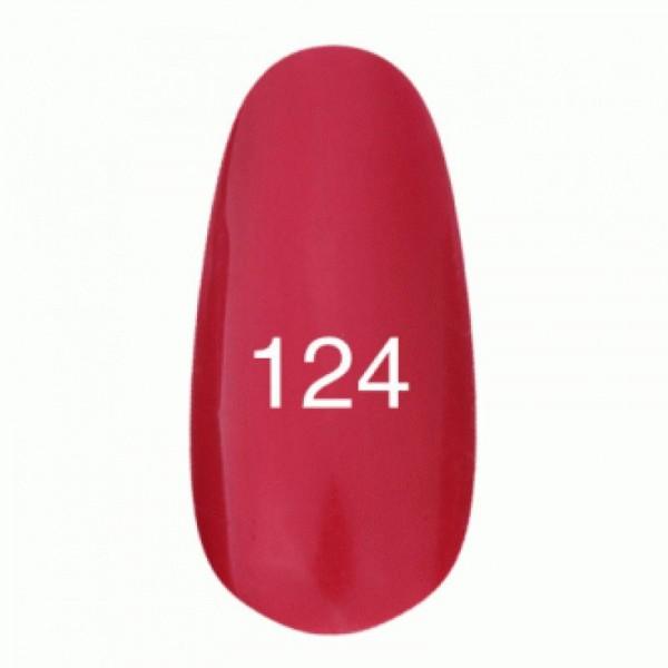 Гель лак № 124 (красный с перламутром) 8 мл.