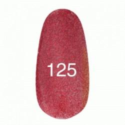 Гель лак № 125 (красный с плотным блеском) 8 мл.