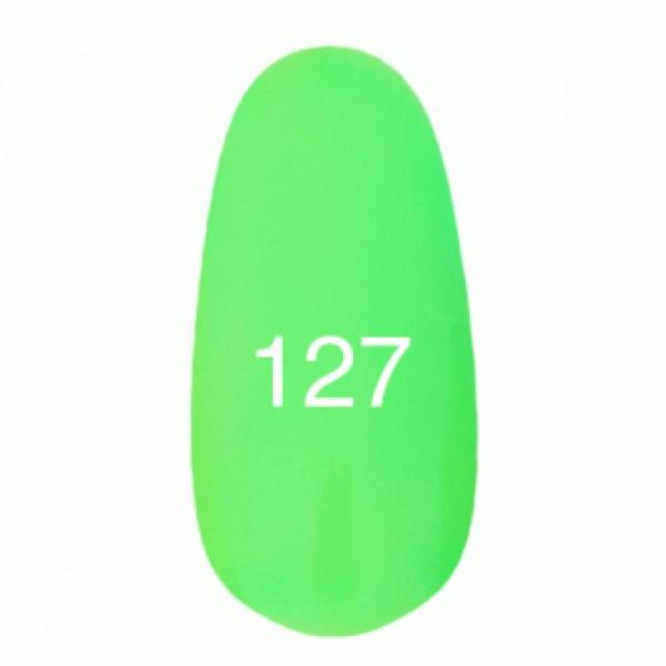 Гель лак № 127 (неоновый зеленый) 8 мл.