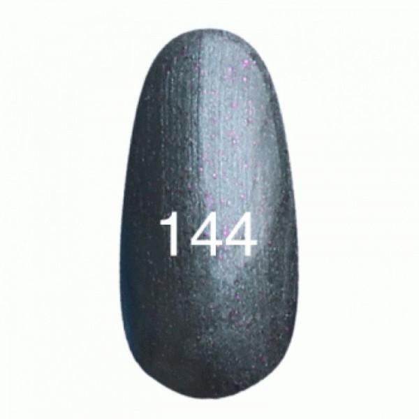 Гель лак № 144 (серый перламутровый с мерцанием) 8 мл.