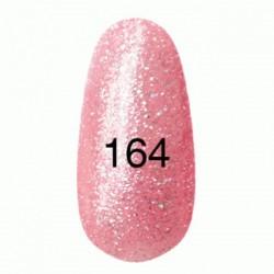 Гель лак № 164 (розовый перламутр с пурпурными блестками) 8 мл.