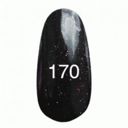 Гель лак № 170 (черный с пурпурными блестками) 8 мл.
