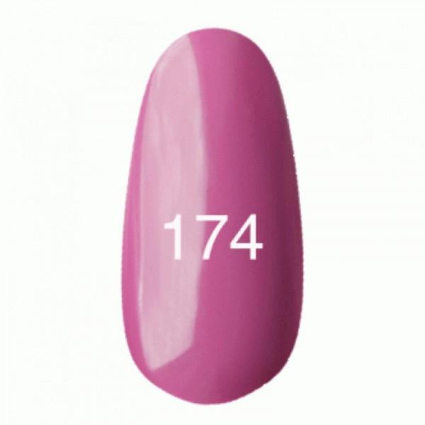 Гель лак № 174 (розовато-лиловый, эмаль) 8 мл.