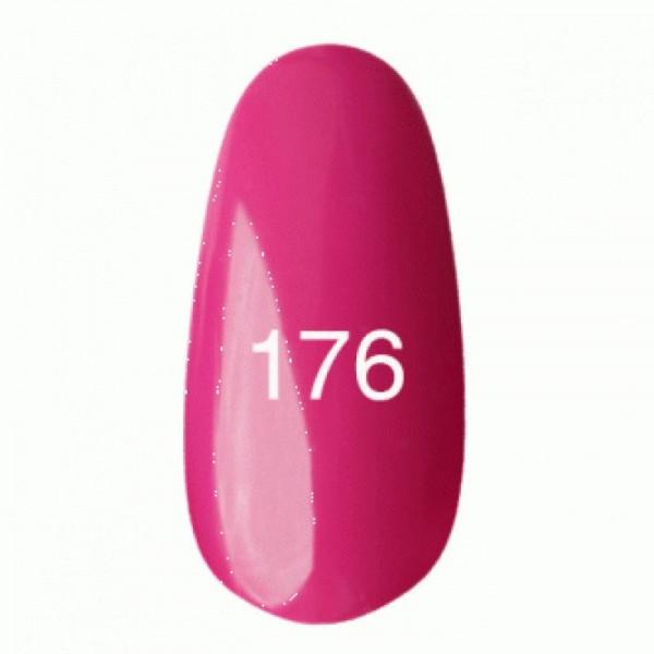 Гель лак № 176 (темно-розовый, эмаль) 8 мл.