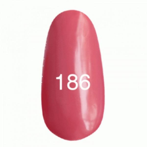 Гель лак № 186 (лососевый, эмаль) 8 мл.