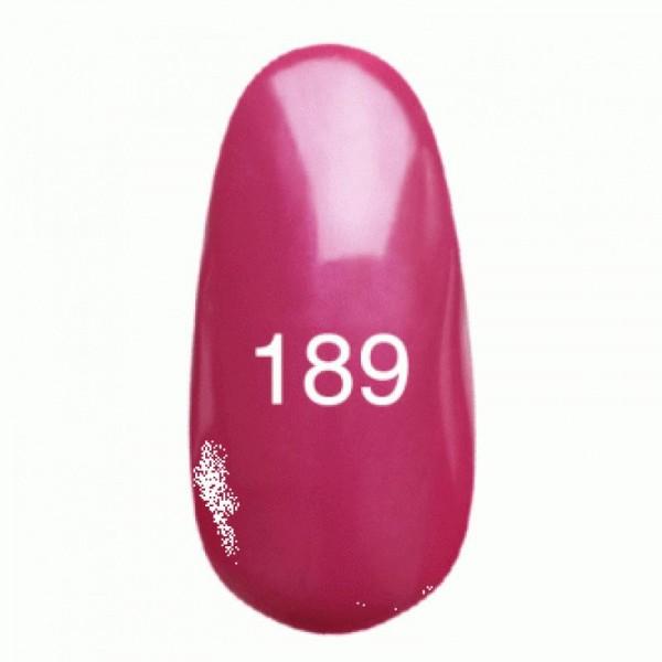 Гель лак № 189 (темно-розовый с перламутром) 8 мл.