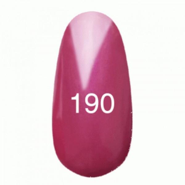 Гель лак № 190 (темно-малиновый с перламутром) 8 мл.