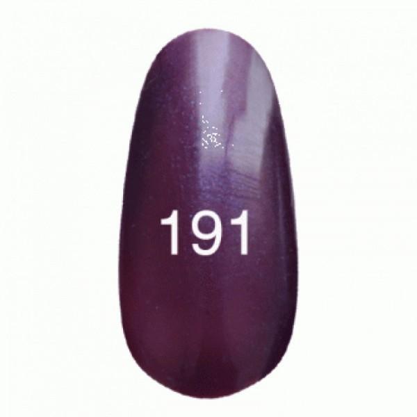 Гель лак № 191 (темно-баклажановый с перламутром) 8 мл.