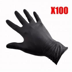 Перчатки одноразовые, 100 шт.  Нитриловые/черные