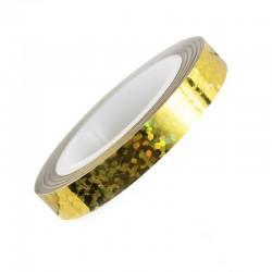 Лента-скотч для ногтей, зигзаги, цвет золото с голограммой, 6 мм  557843