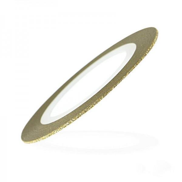 Лента-скотч бархатная для ногтей, цвет золото, 1 мм 445224