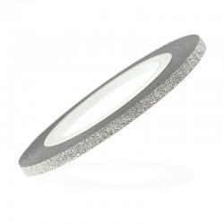 Лента-скотч бархатная для ногтей, цвет серебро, 1 мм 7732343
