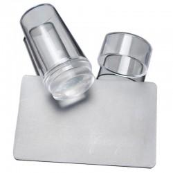 Штамп для стемпинга прозрачный с карточкой-скрапером 5578900