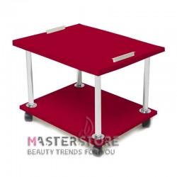 Педикюрная тележка красная, с ручками