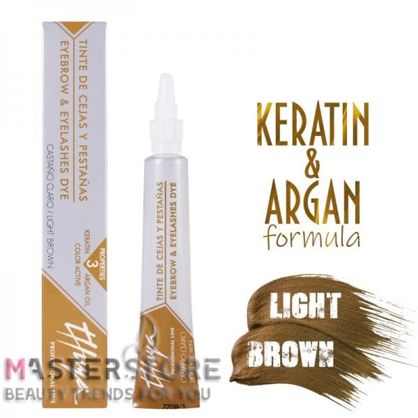 Витаминизированная краска для бровей и ресниц Thuya (Туя) Light Brown (14 мл)