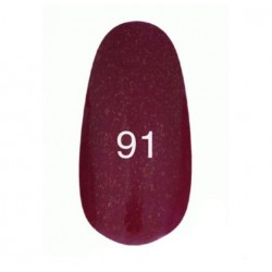 Гель лак № 91 (вишневый с мерцанием) 8 мл.