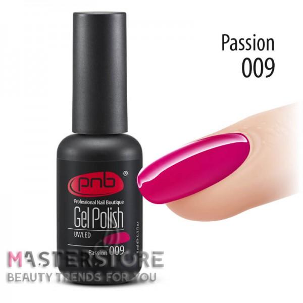 Гель-лак PNB 009 Passion, 8 мл.