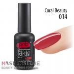 Гель-лак PNB 014 Coral Beauty, 8 мл.