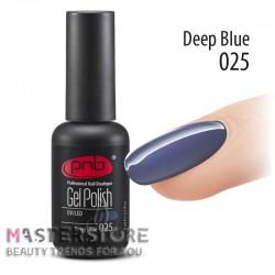 Гель-лак PNB 025 Deep Blue, 8 мл.
