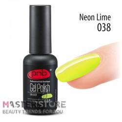 Гель-лак PNB 038 Neon Lime, 8 мл.