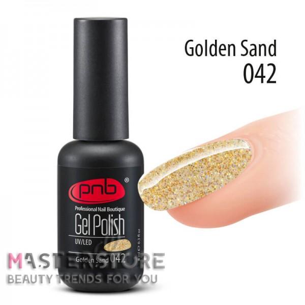 Гель-лак PNB 042 Golden Sand, 8 мл.