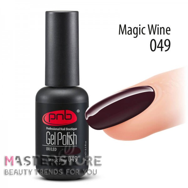 Гель-лак PNB 049 Magic Wine, 8 мл.
