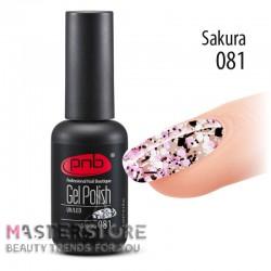 Гель-лак PNB 081 Sakura, 8 мл