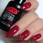 Гель-лак PNB 210 Red Velvet, 8 мл