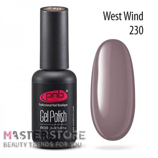Гель-лак PNB 230 West Wind, 8 мл