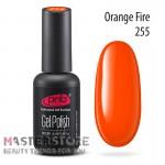 Гель-лак PNB 255 Orange Fire, 8 мл